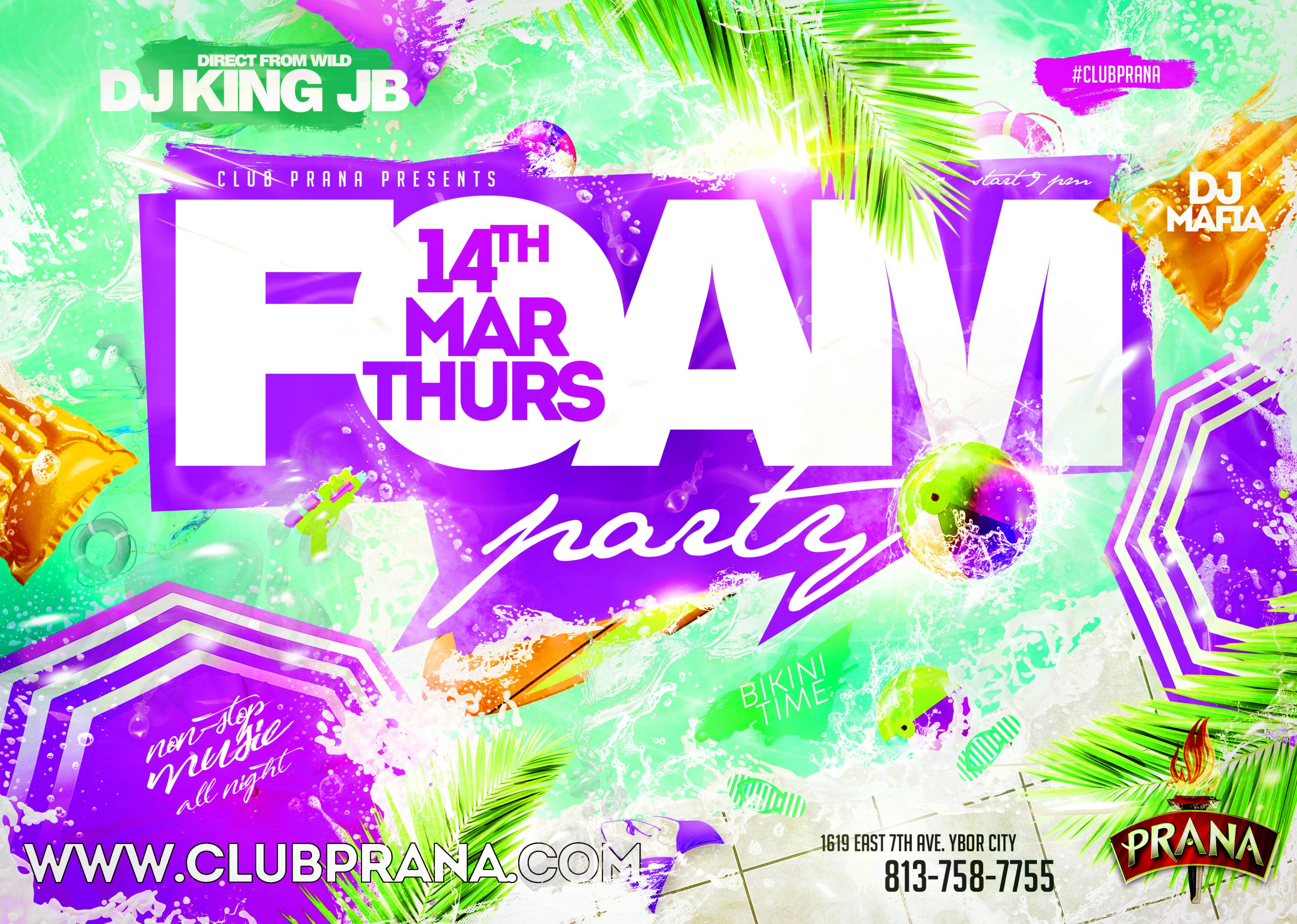 Spring Break Foam Party