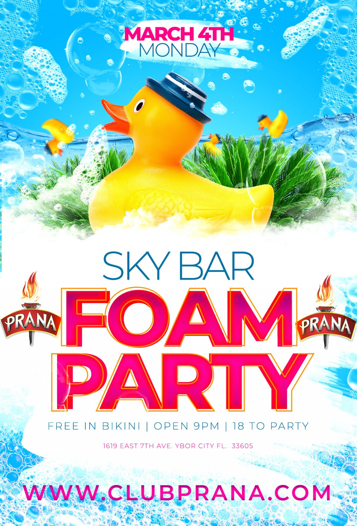Sky Bar Foam Party