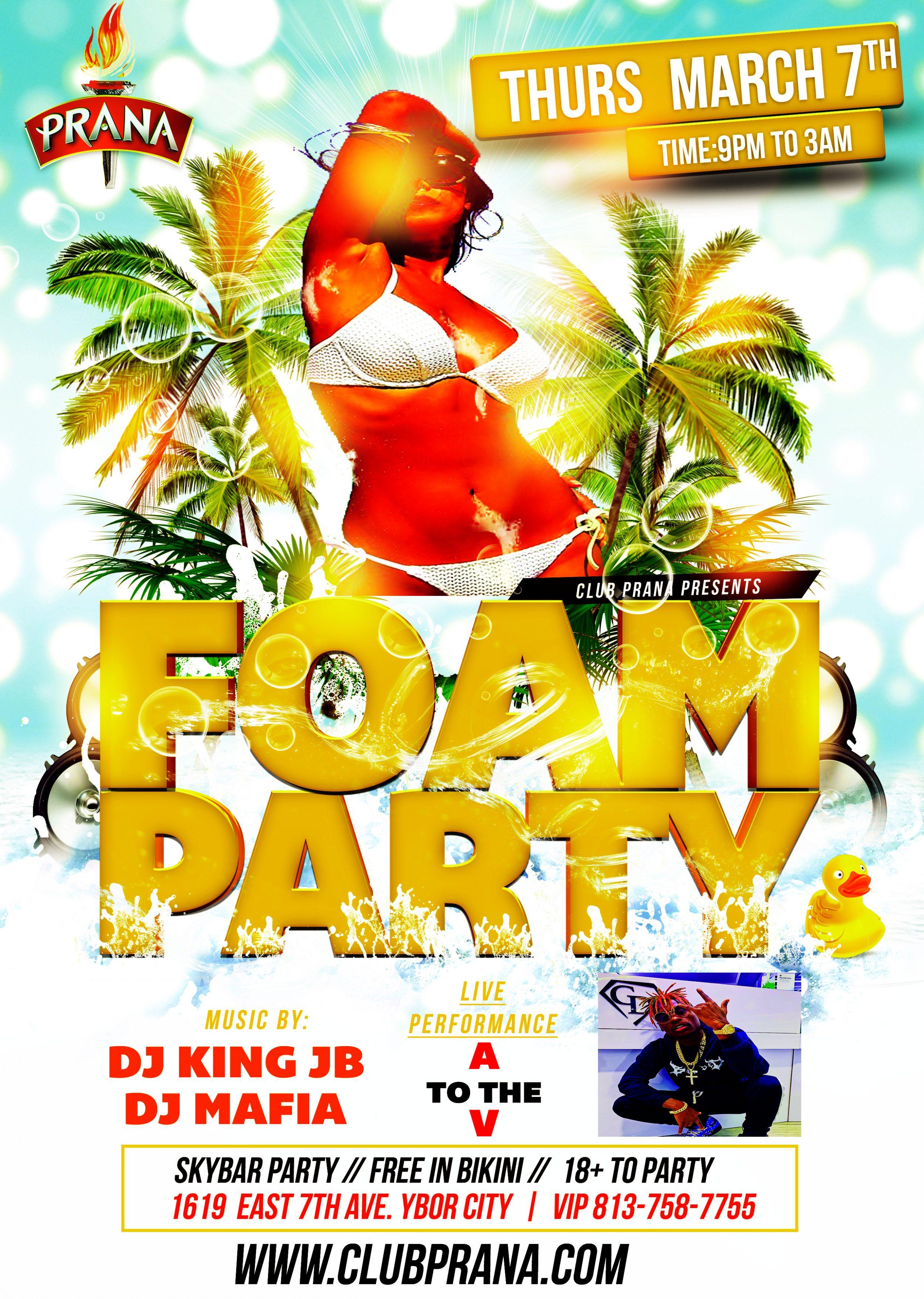 Spring Break Foam Party