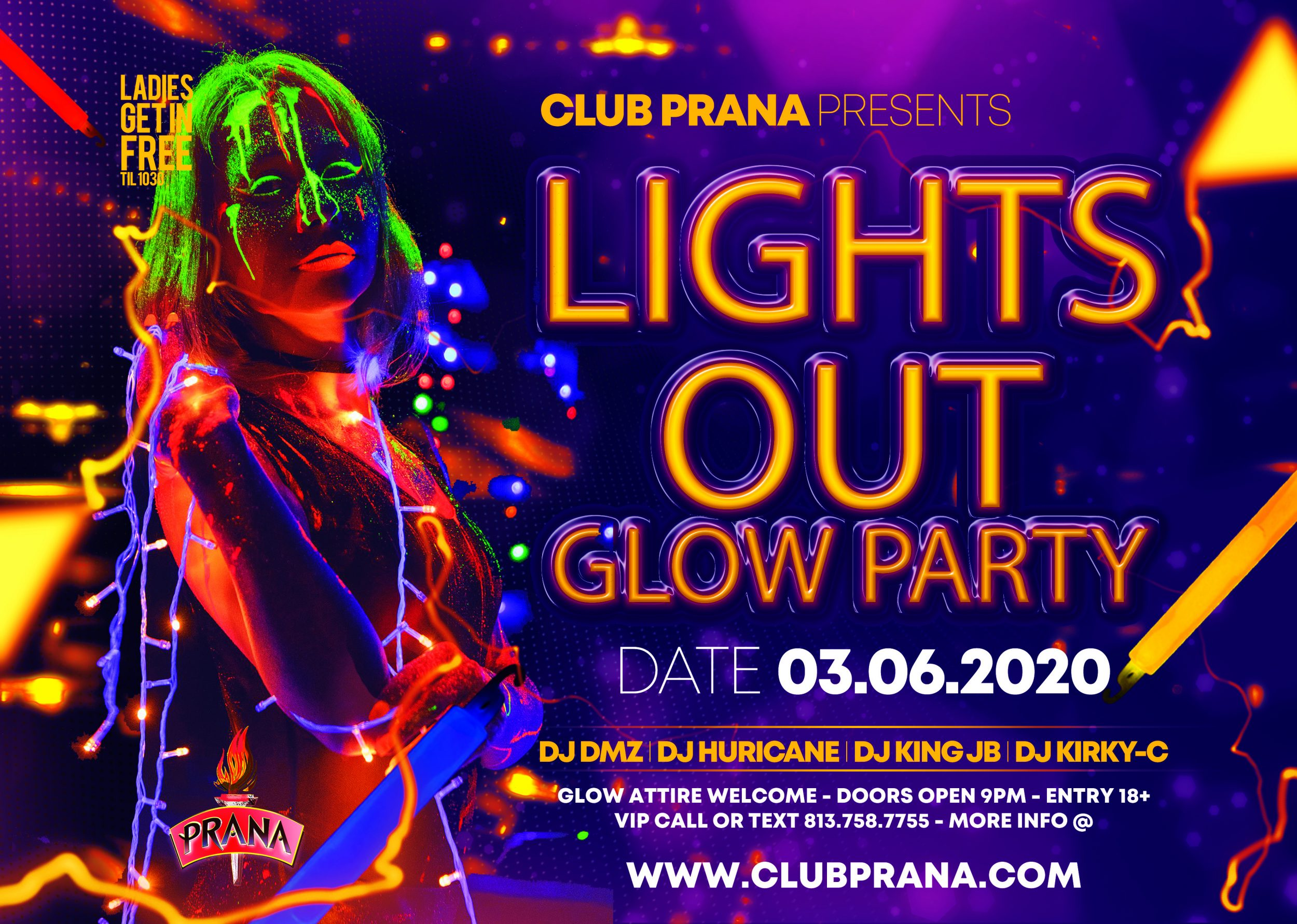 Lights Out Glow Party