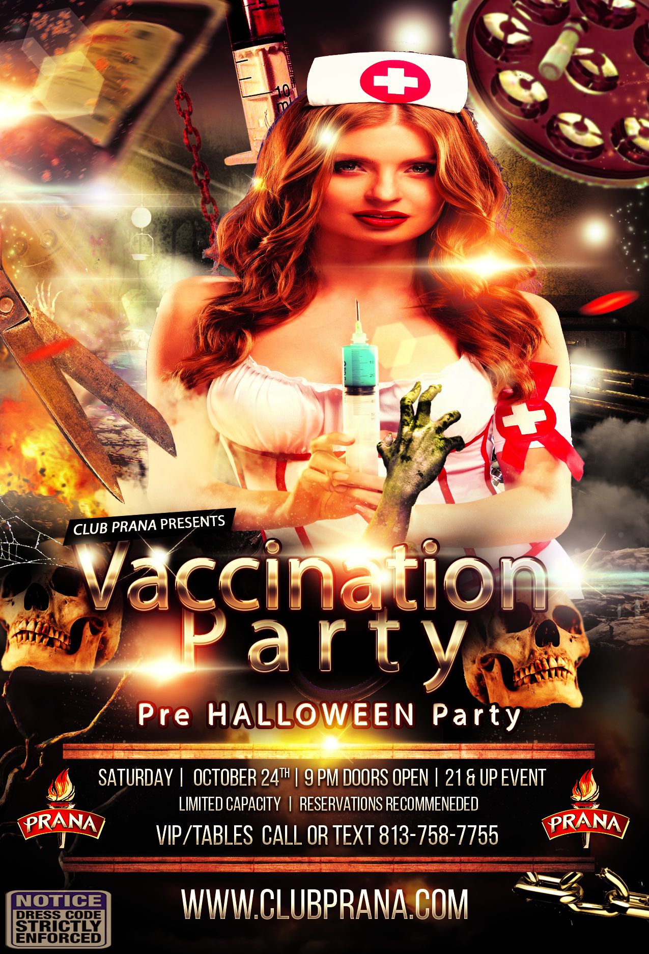 Vaccination Halloween Party