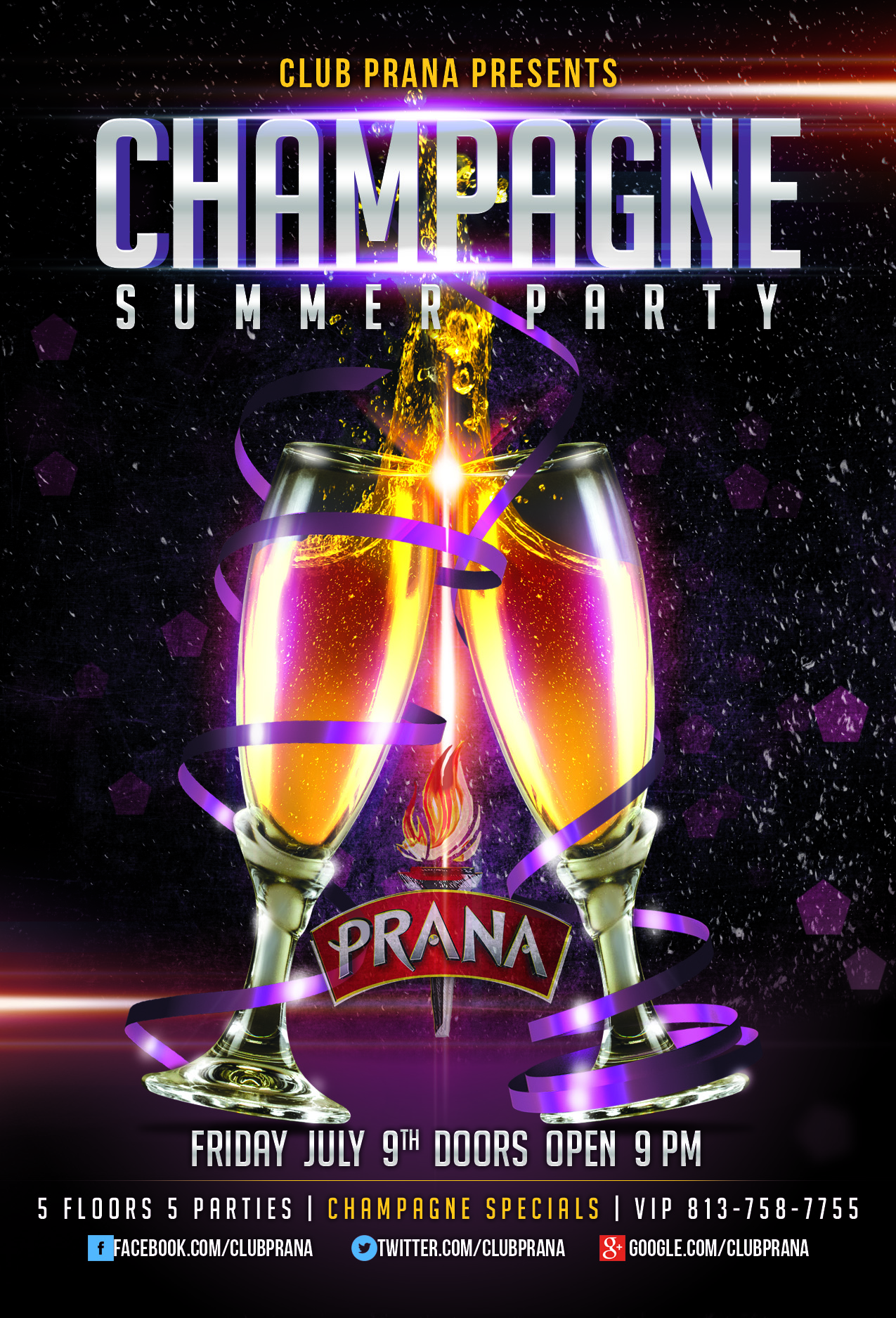 Champagne Summer Party At Club Prana